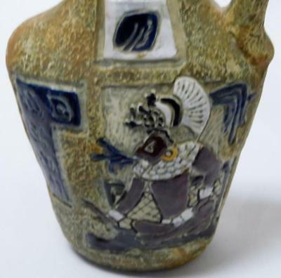 Antique Hand Painted Italian Pottery Pitcher w/ Colorful Egyptian The... Lot 280