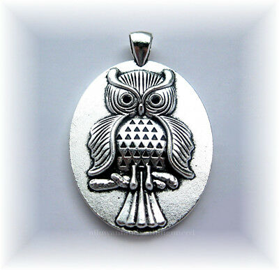 4 Owl Charms Antique Silver Tone Beautiful Long Pendant Style SC728
