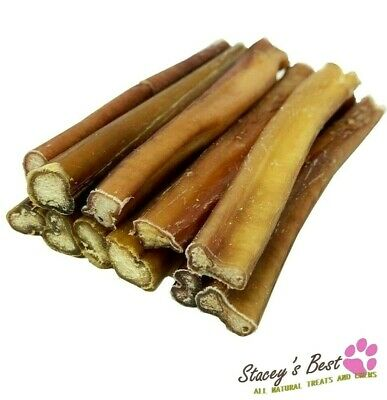 """PREMIUM 6"""" inch BULLY STICKS FOR DOGS EXCELLENT DOG CHEW AND DOG TREAT (6 pcs) 2"""