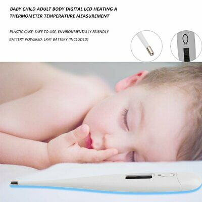 Digital LCD Medical Thermometer Heating Fever Temperature Baby Body Adult dx 6