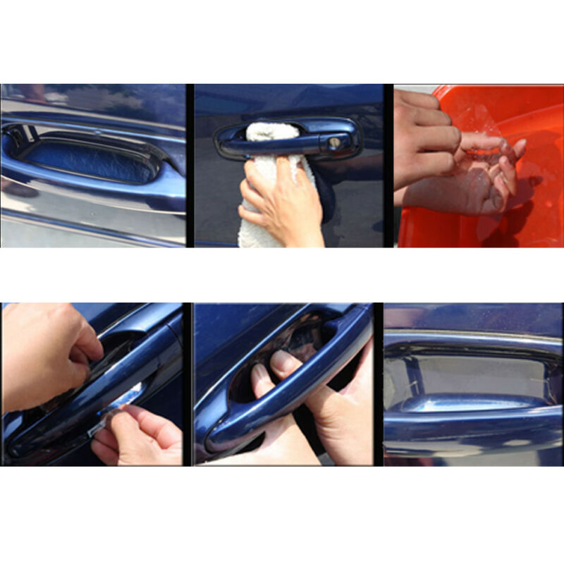4pcs Universal Car Door Handle Invisible Anti Scratch Protector Films Sticker