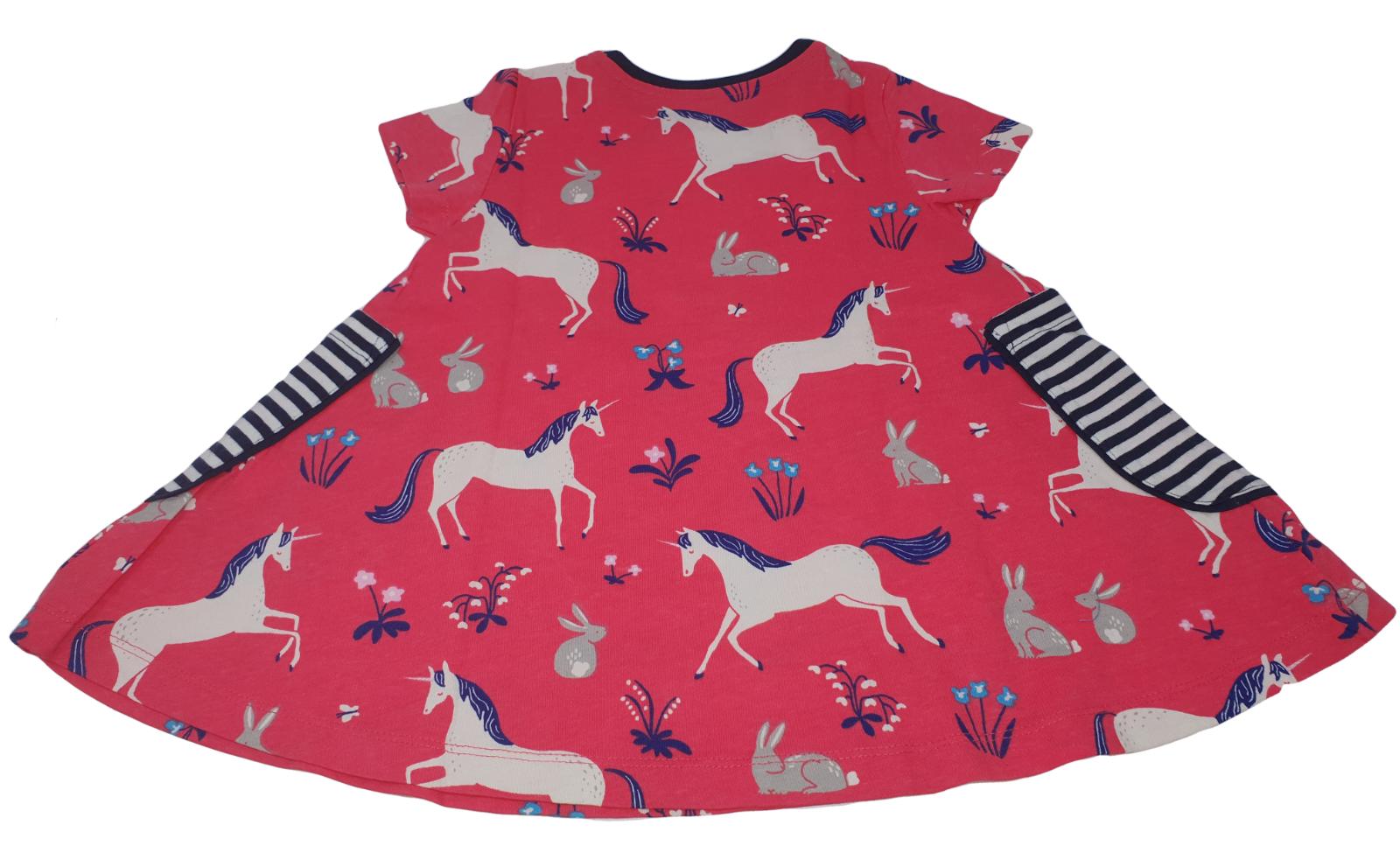 Ex Mini Boden Hotchpotch Tunic Dress in Horse Design 2-12 yrs NEW