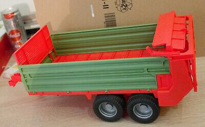 02209 BRUDER Spielzeug Traktor Stalldungstreuer Streuanhänger Streuer Anhänger