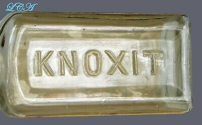 Scarce KNOXIT The Great GONORRHEA and GLEET CURE bottle- syphilis - VD - yikes! 6