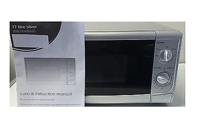 1 Of 4free Shipping 17l Silver Compact Design Caravan Manual Microwave Oven 700w 5 Settings