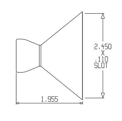 """(2) 2-1/2"""" Flare Nozzles 1/2"""" Loc-Line® USA Original Modular Hose System #51809 2"""