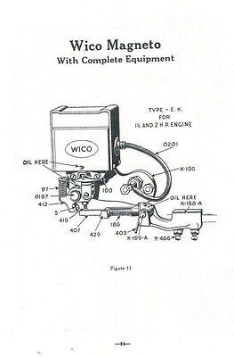 Hercules Instruction & Repair Book Manual Gas Engine Motor Evansville Flywheel 2
