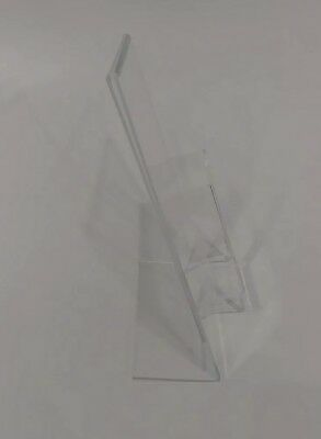 3 Clear Acrylic 8.5x11 Display Sign Holders W Vertical Brochure/Bus Card Holder 4