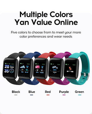 116Plus Smart Watch Bluetooth Heart Rate Blood Pressure Fitness Activity Tracker 2