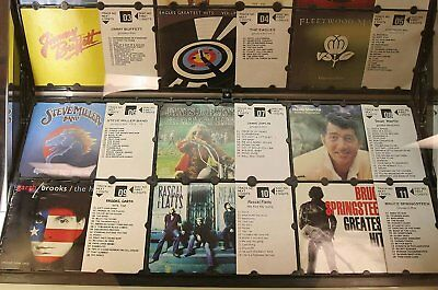 25 x 4 = 100 Rowe AMI CD-100 jukebox full sheets of blank title strip cards
