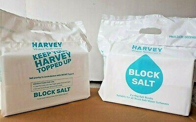 Harvey's Salt Blocks Water Softener 8kg  2 X 4KG BLOCKS PER PACK 1,2 or 3 packs 2