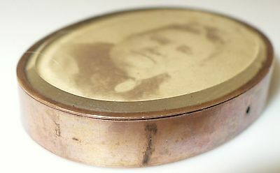 Rare Antique 14k Gold Beveled Glass Picture Frame With Period Photos