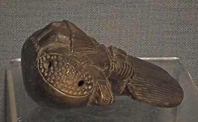 Antique Pre-Columbian Tairona Ceramic Ocarina Musical Instrument 900–1550 A.D. 6