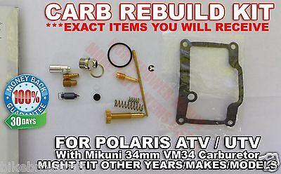 CARBURETOR CARB REBUILD Kit Main Pilot Jet Needle Clip Some Ski Doo Mikuni  Vm34