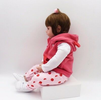 "19"" inch Baby Reborn Doll Vinyl Silicon Life Like Baby Toddler Girl Kids Reborn 10"
