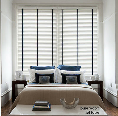 Wooden Venetian Blinds with Tapes - 25, 35 & 50mm Made To Measure Wood Blinds 3