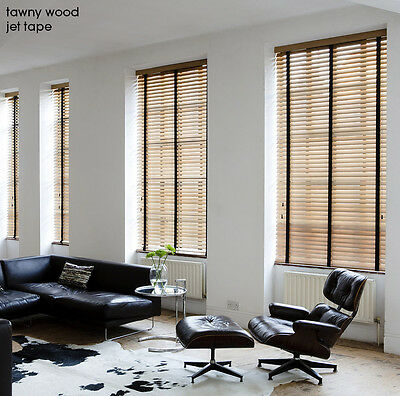 Wooden Venetian Blinds with Tapes - 25, 35 & 50mm Made To Measure Wood Blinds 4
