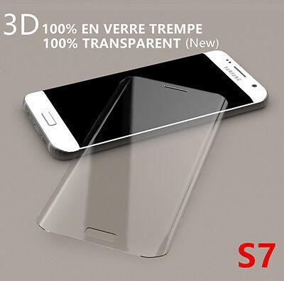 GALAXY S7 film protection écran VITRE VERRE TREMPE 3D intégral total SAMSUNG S7 2