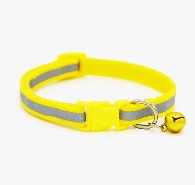 Reflective Dog Cat Kitten Collar Pet Puppy Adjustable Harness with Bell 12