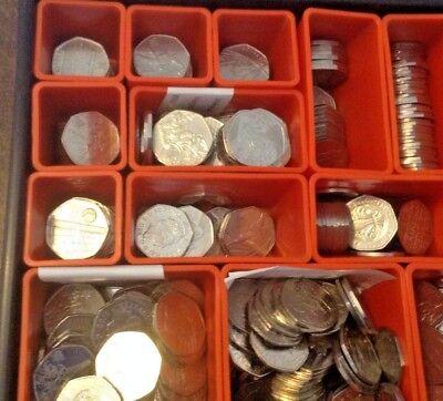 2011/12 OLYMPIC 50p pence COINS Incl RARE Judo, Triathlon, Football etc - CHEAP 3
