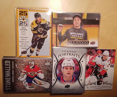 2018-19 Upper Deck Hockey S1 Inserts! Young Guns Canvas Stars Jerseys Portraits 2