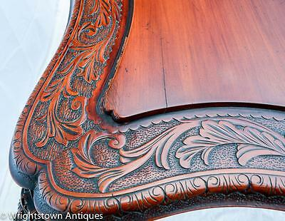 RARE Chinese 19C CARVED DRAGON Rosewood Library/Foyer TABLE Exlnt!! 9