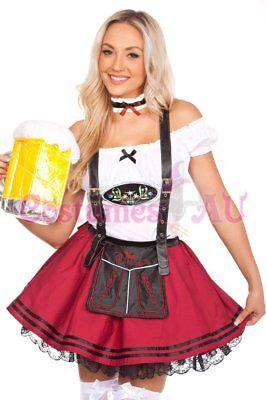 Ladies Beer Maid Wench Costume Oktoberfest Gretchen German Fancy Dress Halloween 8