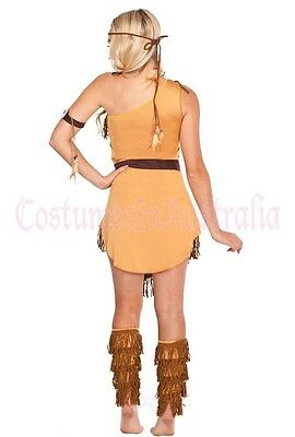 G83 Ladies Pocahontas Native American Indian Wild West Fancy Dress Party Costume