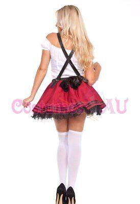 Ladies Beer Maid Wench Costume Oktoberfest Gretchen German Fancy Dress Halloween 9