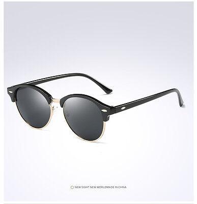 Fashion Vintage UV400 Outdoor Shades Women Mens Retro Round Polarized Sunglasses 9