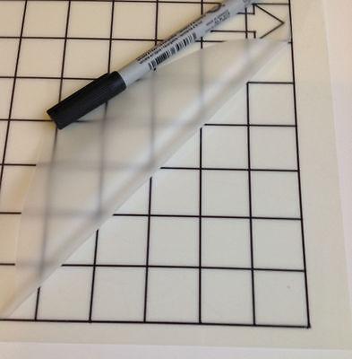 "3x (12x12"") Grid Mats Silhouette Cameo 2 cutting plotter Carrier sheet Save £££"