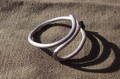 Scythian-Sarmatia Silver Old Ring Crimped Temporal 7-3 th Century BC 3.1 grams
