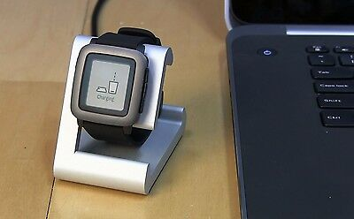 TimeDock Pebble Time Dock for Charging, Stand, Holder Integrated Charger SILVER