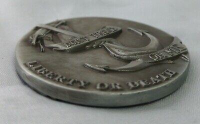 LIBERTY Bell Silver Coin Eagle Anchor Snake 3D Antique Americana Pennsylvania US 9