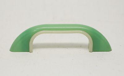 Curved Light Green Vintage Plastic Bridge Pull 3