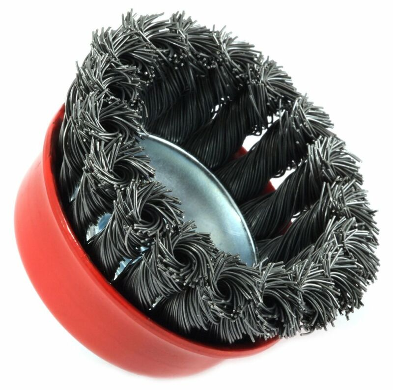 Forney 72757 Wire Cup Brush, Knotted With 5/8-Inch-11 Threaded Arbor, 2-3/4-Inch 2