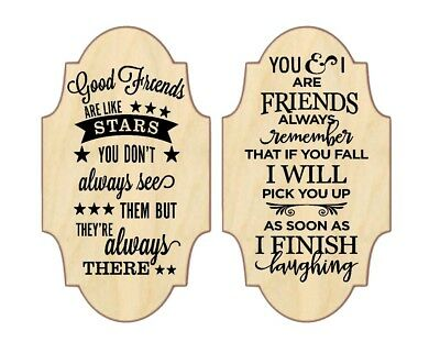 GOOD FRIENDS ARE LIKE STARS BOTTLE//VASE VINYL TRANSFER DECAL