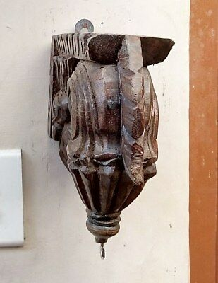Wall Hanging Corbel Pair Wooden Bracket used for hanging lamp bell Diwali Gift 5