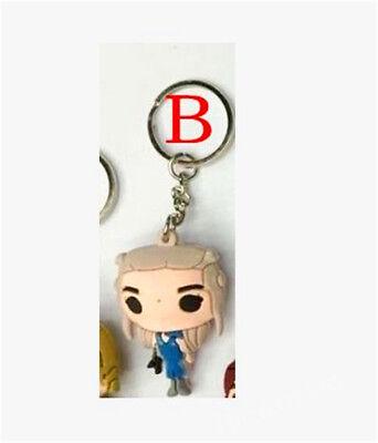 Game Of Thrones Pocket Daenerys Jon Snow Figure Keychain Hot 10
