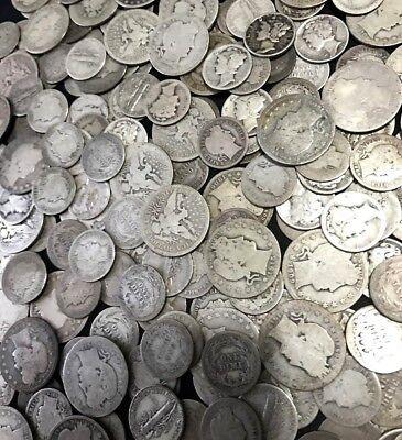 ✯ SILVER Old U.S. Coin Lots ✯ Mercury & Barber Dime Barber Quarter ✯ Estate Sale 2
