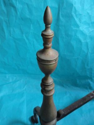 American Federal Style Brass & Cast Iron Andirons 11