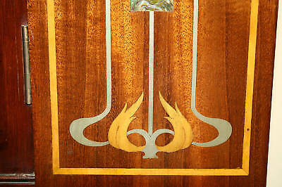 Magnificent 1900 English  Art Nouveau Inlaid Mother Of Pearl Cabinet 3