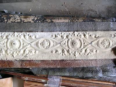 """13.5""""x17"""" Antique Ceiling Tin Tile Art Nouveau Pie Safe Door Gothic Shabby Chic 6 • CAD $26.21"""