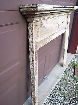 Antique, Early Pine Fireplace Mantel 2