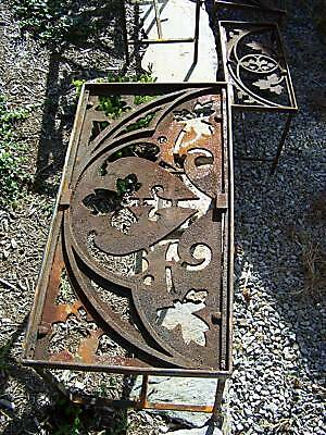 CUSTOM made iron patio table 1878 GOTHIC roof cresting 5