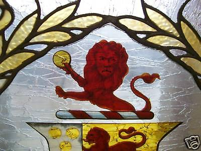 Antique Leaded Stained Glass Firescreen 3