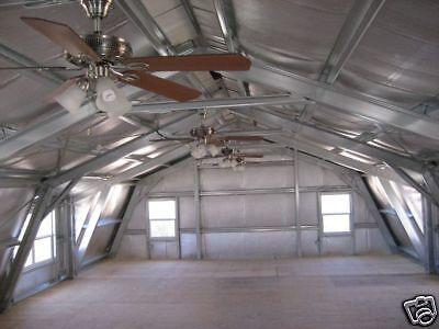 Gambrel garage shop home steel building 2nd floor metal for Gambrel style steel building