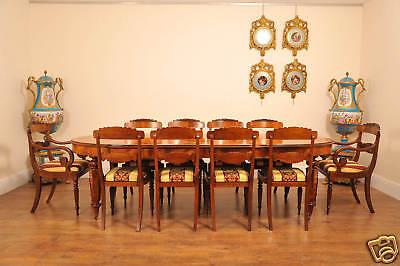 10 English Regency Walnut Inlay Dining Chairs 11