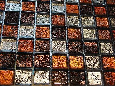 glasmosaik mosaik fliesen rot braun silber metall effektmosaik dusche mosaik eur 10 95. Black Bedroom Furniture Sets. Home Design Ideas