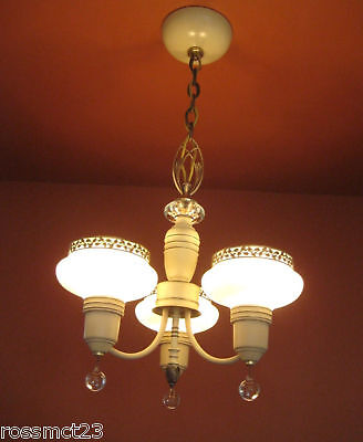 Vintage Lighting antique 1930s Art Deco set   Pair chandeliers   Pair sconces 7